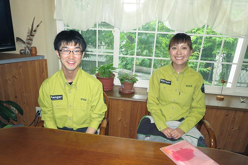 新八戸自然保護官太刀川さんと面談しました。